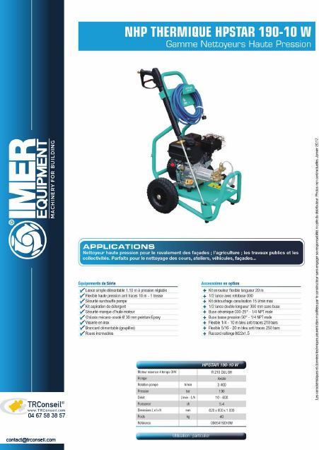 icone catalogue nhp thermique 190-10w