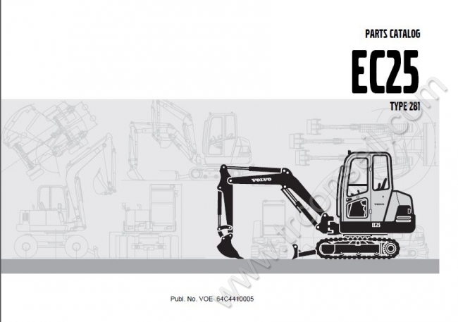 catalogue pieces detachees volvo ec25. Black Bedroom Furniture Sets. Home Design Ideas